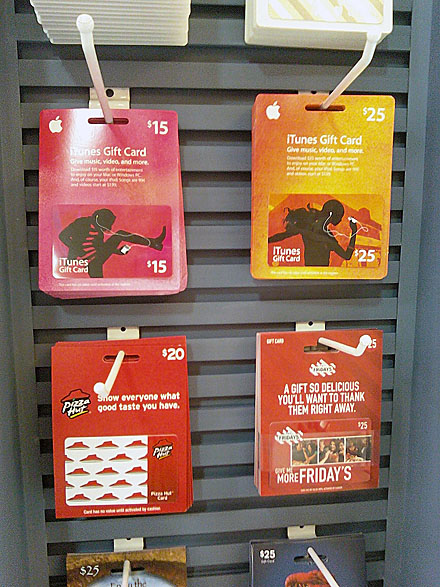 Gift Cards Slatwall Hook