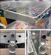 Open Wire Shelf Tilts & Folds