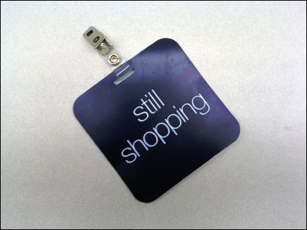 VIP Still Shopping Tag