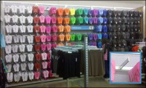 Mass Merchandising Flip Flops on Bar Merchandiser