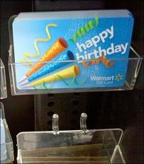 Gift Card Pegboard Tray