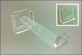 Stick-On Slide-In Plastic Straight Entry Hook