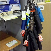 Umbrella Drupelets On Strip Merchadiser