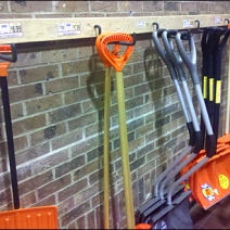 Homemade Shovel Rack