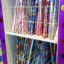 Solid Bottom Shelf Gift Wrap Rack