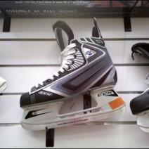 Ice Skates on Flatback Slatwall Hooks