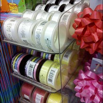 Gravity Feed for Gift Ribbon Spools