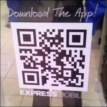 QR Code Window Decal Detail