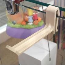 Plastic Grid-Bar Hook on Glass
