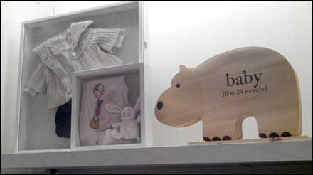 Shadowbox For Baby Clothes Visual Merchandising Fixtures Close Up