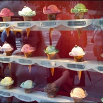 Tiffany Ice Cream Cone Window