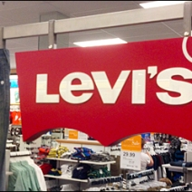 Levi's Rivets Point of Purchase Display and Jeans