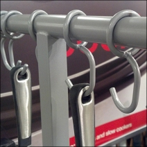 T-Stand Displays Hanging Cookware Detail