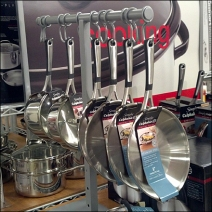 T-Stand Displays Hanging Cookware