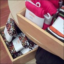 Wooden Tray for Socks Detail