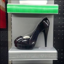 Shoe Stapler and point of purchase Detail
