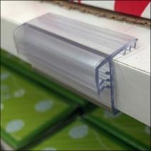 Shelf Edge Vinyl Pouch Sign Grip Detail