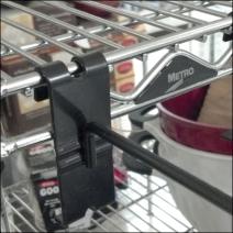 Grid Hooks on Metro Shelf Edge CloseUp