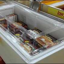 Refrigerated Cooler Spot Point of Purchase Display Topper Main
