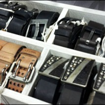 Belts Organized by Box Overview