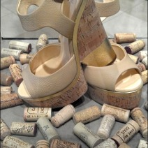 Cork on Cork Shoe Display