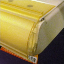 Pushpinned Bullnose with Frontrail Closeup