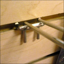 All Wire Square-Front Loop Safety Hook Backplate Closeup