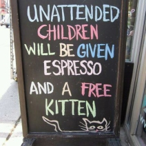 Unattended Children given Expresso
