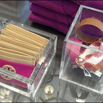 Acrylic Accessory Trays Closeup