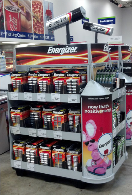 Energizer 174 Enlarged Overhead Fixtures Close Up Retail Pop