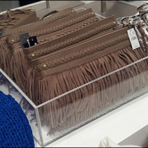 Purses in Acrylic Tray Main View