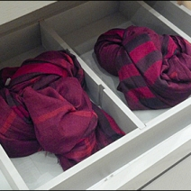 Scarves Vraided in Trays Detail