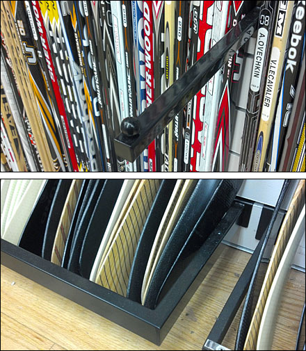 Hockey Blade Display Rack For Slatwall