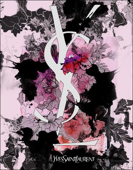 1 mixed-media-illustrations-designer-brands-by-daryl-feril-chicquero-yves-saint-laurent