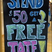 Free Tote Chalkboard Detail