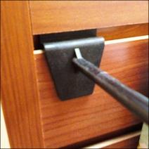 Yankee Candle Plastic Slatwall Hook Closeup