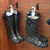 Rubber Galoshes on Hooks Main