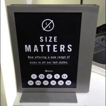 Shoe Size Matters CloseUp Main