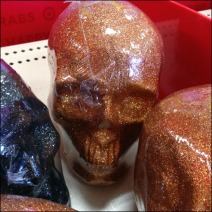 Shrink-Wrapped Skulls Closeup