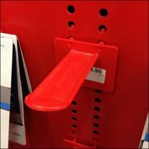 Custom Perforated Metal Display Back Label Plastic Butterfly Hook