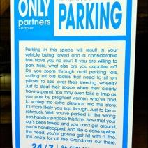 Partners-Napier-6 No Parking Sign