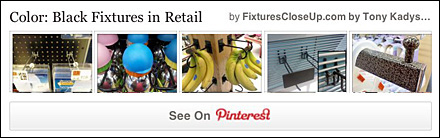 Black Color Fixtures in Retail Pinterest Board FixturesCloseUp
