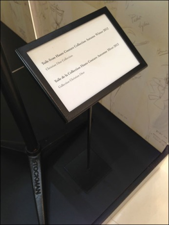 Dior Tables Stands as Floor Stands Detail