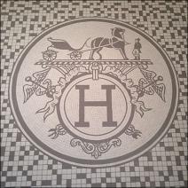 Hermes Store Entry Mozaic Logo Detail