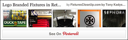 Logo Branded Fixtures In Retail on Pinterest Board