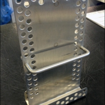 Metal Plate Literature Holder Angled