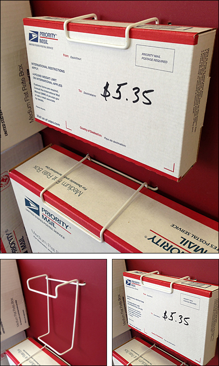 Post Office Top-lip Box Hook Composit
