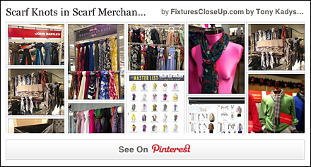 Scarf Knots In Scarf Merchandising Pinterest Board for Fixtures Close Up