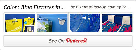 Blue Fixtures In Retail Pinterest Board Fixtures Close Up