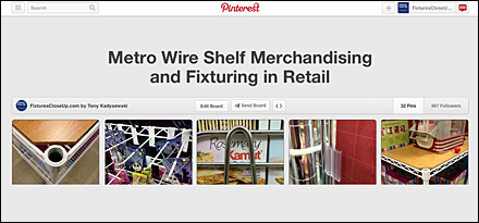 Metro and Open Wire Shelf Design Pinterest Board